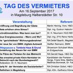 Tag des Vermieters am 16.09.17 in Magdeburg